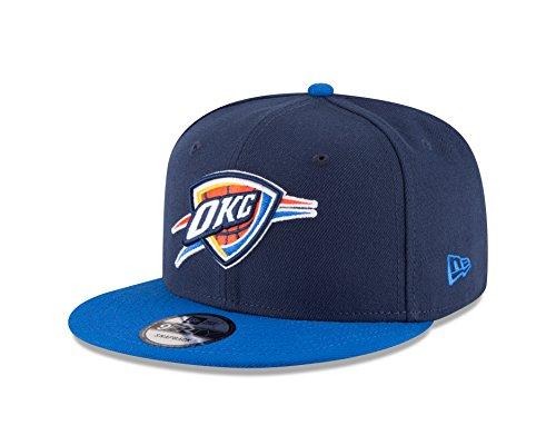New Era NBA Oklahoma City Thunder Adult Men NBA 9Fifty 2Tone Snapback Cap,OSFA,Navy