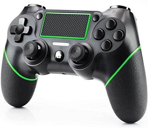 Game Controller für PS-4, Wireless Controller für Playstation-4 / Pro / Slim / PC, Touchpanel-Joypad mit Dual Vibration Game-Fernbedienungs-Joystick, USB-Kabel und Anti-Rutsch-Ergonomie