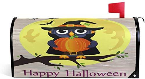 Bho de Halloween en disfraz de bruja con calabaza magntica 21 x 18 en cubierta de buzn de gran tamao para decoraciones de jardn al aire libre