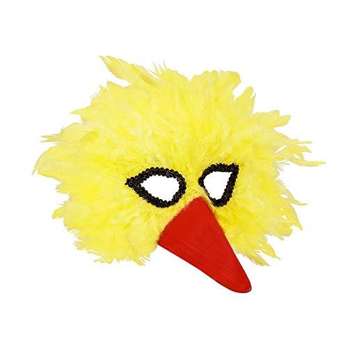 Masker vogel veren geel volwassenen