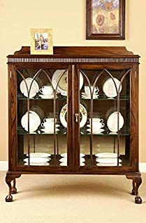 Laurel Crown Small Chippendale China Cabinet