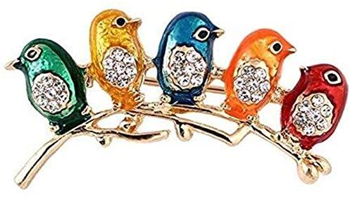 Regalo de cristal pequeños pájaros pernos de las broches de la boda de Navidad for las mujeres GIAOYAO