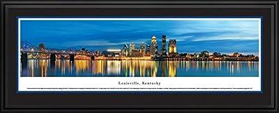 Louisville, Kentucky at Twilight - Blakeway Panoramas Unframed Skyline Posters-P
