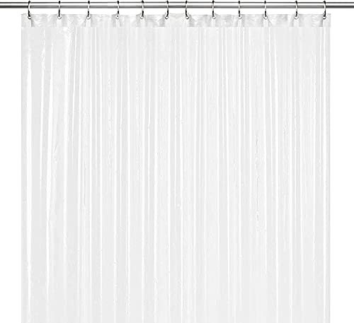 Product Image of the LiBa PEVA 8G Bathroom Shower Curtain Liner, 72' W x 72' H, Frosted, 8G Heavy Duty Waterproof Shower Curtain Liner