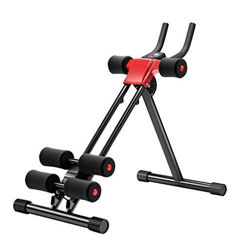 Maplople Adjustable Ab Trainer Abdominal Whole Body Workout Machine Waist Cruncher Core Home Indoor Sports (Black 1)