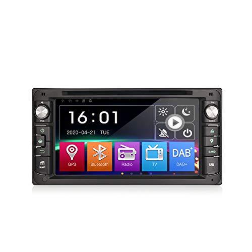 Erisin Autoradio per Toyota Corolla EX Rav4 Vios Vitz Hilux Land Cruiser 100 Prado Lettore DVD da 7 pollici Supporto GPS Sat Nav USB Car Digital Touch Screen DVB-T A2DP Controllo del volante Bluetooth