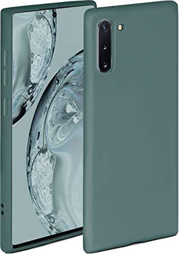 ONEFLOW Soft Hülle kompatibel mit Samsung Galaxy Note10 Hülle aus Silikon, erhöhte Kante für Displayschutz, zweilagig, weiche Handyhülle - matt Petrol