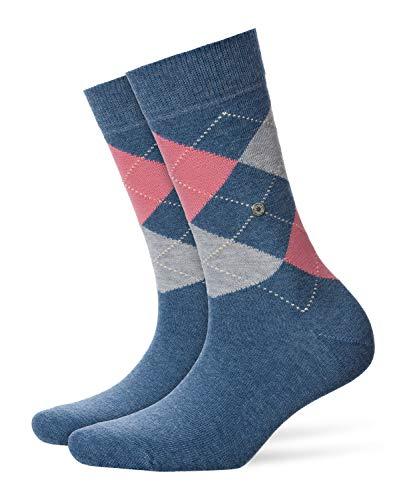 BURLINGTON Damen Socken Queen - Baumwollmischung, 1 Paar, Blau (Light Denim 6660), Größe: 36-41