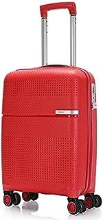BONTOUR Valise rigide à roulettes 55 x 38 x 20 cm avec serrure TSA Bagage à main 4 roulettes en matériau solide et flexibl...