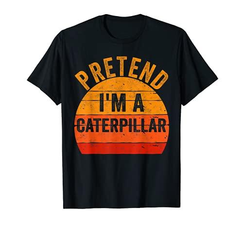 Divertido disfraz de Halloween perezoso regalo fingir que soy una oruga Camiseta