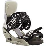 Burton Lexa X Est Team Gray - Fijaciones de snowboard para mujer, talla M, color gris
