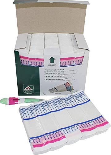 1000 Stück (200 x 5 Stück) Schutzhüllen für Fieberthermometer