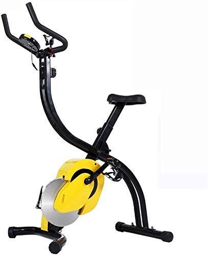GJJSZ Bicicleta estática Plegable para Interiores,Bicicleta estática magnética para el hogar Resistencia de 16 Niveles y ejercitador telefónico Gimnasio Fitness Brazo Entrenamiento Cardiovascular
