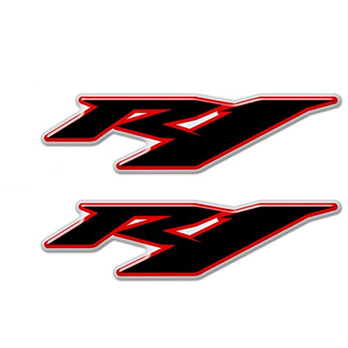 Qwjdsb For Yamaha R1 YZF R1 YZF 1000, Motorcycle Stickers Logo Badge Emblem Fairing Tank Pad Protection Decoration 2015 2016 2017 2018