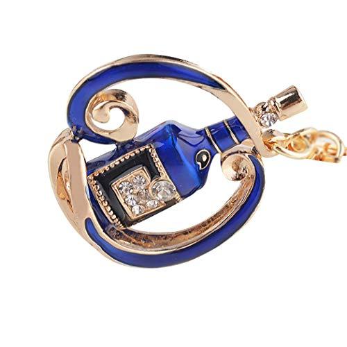 litty089 Süße Weinflasche Strass Schlüsselanhänger, Schlüsselanhänger, Tasche, Anhänger, Geschenk – Königsblau