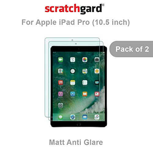 """Scratchgard 2 Pack Anti-Glare, Matte Finish (HD) Clear (0.1mm) PET Film Scratch Protection Screen Protector Screen Guard for Apple iPad Pro 9.7"""" [Pack of 2]"""