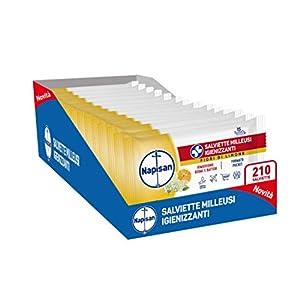 Napisan Napisan 210 Salviette Igienizzanti Milleusi Umidificate Formato Pocket 14 Confezioni Da 15
