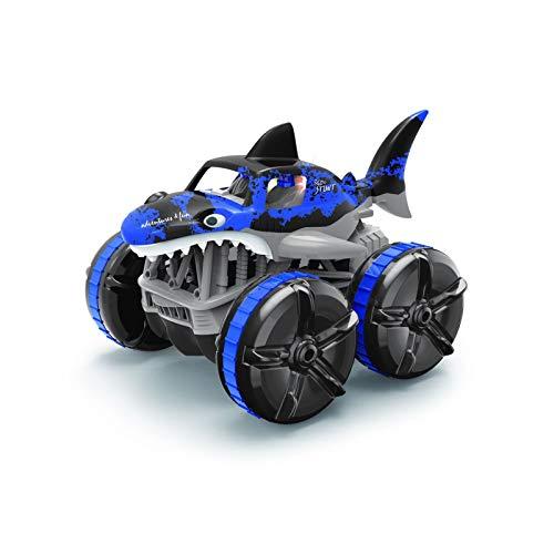 Lotees Camiones todoterreno RC Control remoto Coche 2.4GHz High-Fall Amphibions Tierra y hierba Tiburón Tiburón Control Remoto Toy Toy Coche Monster Camión para y adultos Niñas Regalos Juguete para ad