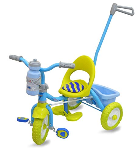 Fun Ride FunRide Tricycle For Kids - 2-in-1 Viva Deluxe Tri-Cycle with Sipper, Removable Parental Control Handle For 1-4 Years (Upto 25 Kg, Green)
