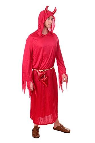 DRESS ME UP - Kostüm Karnevalskostüm Herren Unisex Frauen Teufel Dämon Luzifer Satan Gr. S / M L203