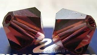 Swarovski Crystal Bicones 5301/5328 4mm Burgundy - 50 Beads