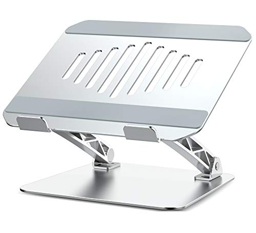 IVSO Laptop Stand, Ergonomic Multi-Angle Computer Laptop Holder, Adjustable Notebook Riser with Heat-Vent, Portable PC Holder for MacBook Pro Air, Lenovo, Dell, all 8'-15.6' laptop tablet iPad, Silver