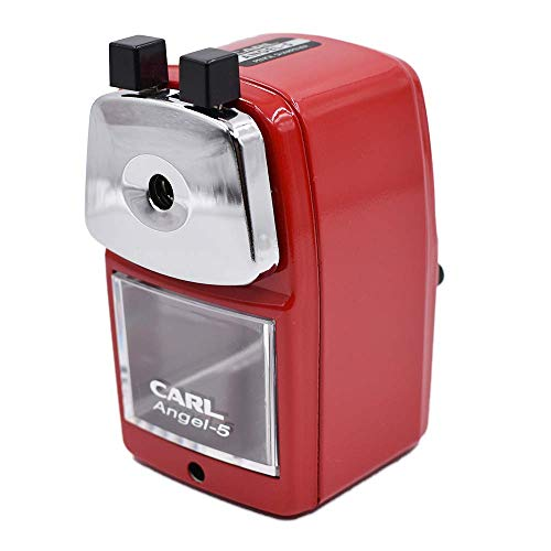 CARL Angel-5 Pencil Sharpener, Red