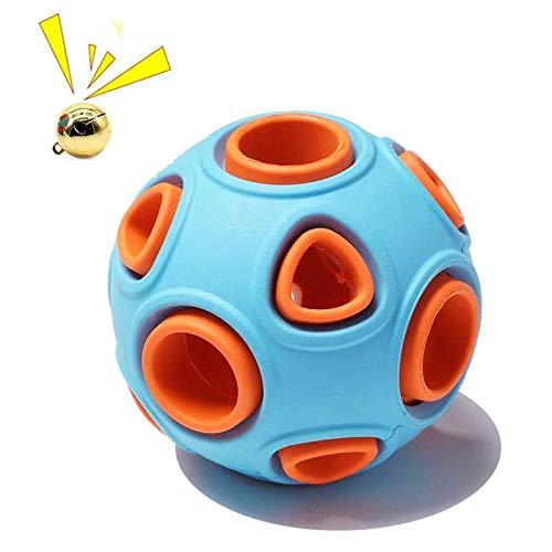 KOIYPW Hundeball, interaktives Hundespielzeug mit Glocke, Gummiball, Hundekugeln Bouncy Ball, Haustier Sportspiele Intelligenz Ball IQ Bissfestes Spielzeug für Haustierkauspielzeug