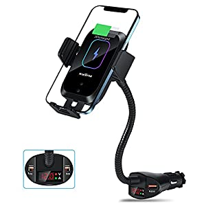 WALOTAR Car Cigarette Lighter Wireless Charger