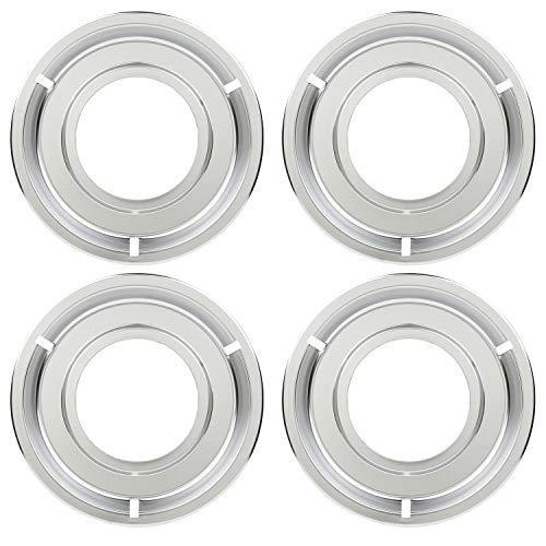 KITCHEN BASICS 101 5303131115  540T014P01 and RGP 300 Replacement Round Range Stove Gas Pans for Frigidaire and Tappan  4 Pack