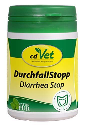 cdVet Naturprodukte DurchfallStopp 50 g - Hund, Katze - Diät-Ergänzungsfuttermittel - Resorptionsstörung im Darm - bildet Schutzbarriere - Bindung von Toxinstoffen - B-Vitamin - Gesundheit -