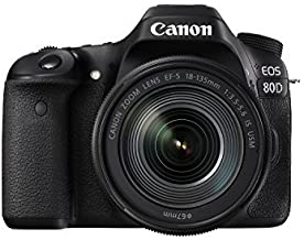 Canon EOS 80D Digital SLR Kit EF-S 18-135mm f/3.5-5.6 Image Stabilization USM Lens (Black) (International Model) No Warranty