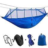 AKPO Hamaca para Acampar con mosquitera, Cama Colgante portátil, Tela de paracaídas Resistente, Columpio para Dormir para jardín, Viajes B