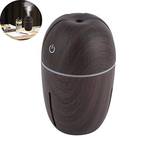 Boquite Humidificador, Grano de Madera Mini USB portátil de Escritorio Oficina Silencio Pequeña casa(Grano de Madera Oscura)
