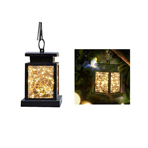AWJK Lumière Solaire de Jardin, extérieur Lanterne décorative Jaune lumière Chaude Jardin étanche Accueil Veilleuse Starry Sky Lampe Suspendue,C