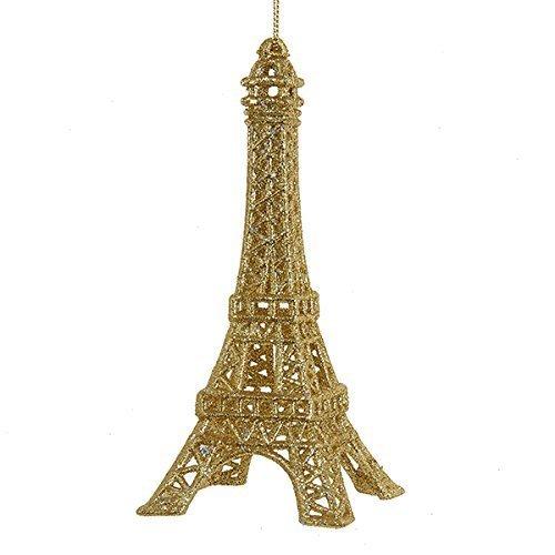 Ornament - Eiffel Tower - Gold Glittered Acrylic Ornament