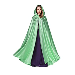 BEAUTELICATE Women's Wedding Hooded Cape Bridal Cloak Poncho Full Length (More Colors)