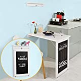 Haotian Wall-Mounted Drop-Leaf Table, Folding Kitchen & Dining Table Desk, Children Table,FWT20-W,White
