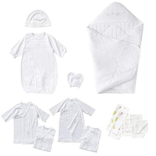 cremé de coco 天使の羽 出産準備 15点 セット ベビー 新生児 赤ちゃん ギフトセット ツーウェイオール 帽...