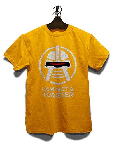 Battlestar Galactica Not A Toaster T-Shirt gelb-Yellow XL