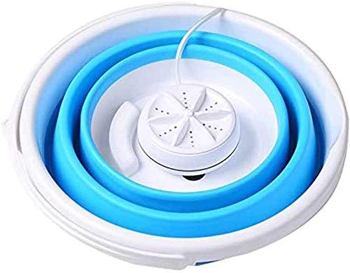 HongTai Lavadora mini lavadora con bañera plegable, imita a mano, cable USB, silenciosa, limpieza personal de turbina ultrasónica, para viviendas