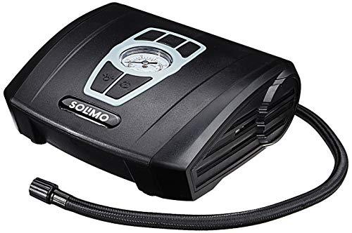 Amazon Brand - Solimo Portable Tyre Inflator, 12V (Black)