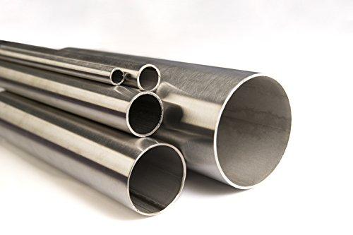 Ø 12 x 1,5mm bis Ø 114,3 x 2mm Edelstahlrohr Rundrohr V2A K240 geschliffen Edelstahl Rohr bis 2 Meter (2000mm) Länge frei wählbar (Ø 16 x 2mm (Länge 500mm))