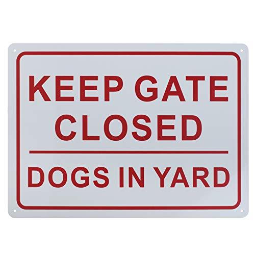 aspire Keep Porte fermée Chiens en Yard Sign, l'intérieur et l'extérieur, Keep Gate Closed/1pcs, 10\