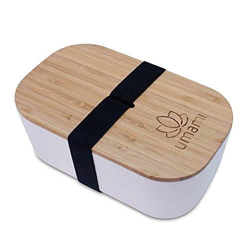 Umami® ⭐ Lunch Box Écologique 1100ml - en Fibre De Bambou - Boîte Bento Japonaise - Passe Au Lave-Vaisselle - Durable, Sain & Design - Zéro Déchet - sans BPA - Garantie 5 Ans - Marque Française