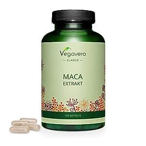 Maca Andina Vegavero® | 4200 mg | Energía + Libido + Hormonal | Cosechada en Perú | Adaptógeno Natural | 6 Meses Suministro | 180 Cápsulas | Maca Amarilla Peruana | Sin Aditivos | Maca Root