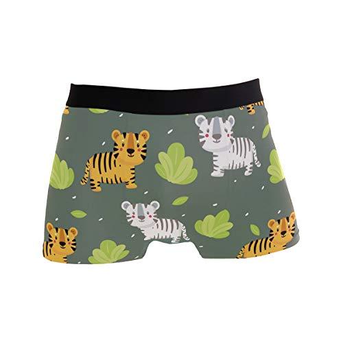 Herren Unterwäsche Boxershorts Unterhose Sport Activewear bequem sexy Männer Geschenke Tigermuster Gr. L, Schwarz