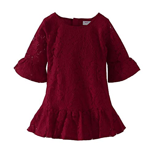 Mud Kingdom - Vestido de encaje para niña - rojo - 12 meses