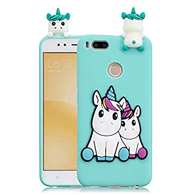 HopMore Compatible con Funda Xiaomi Mi A1/ 5X Silicona Dibujo 3D Divertidas Panda Animal Carcasa TPU Gel Ultrafina Slim Case Antigolpes Caso Protección Cover Design Gracioso - Unicornio Unicorn