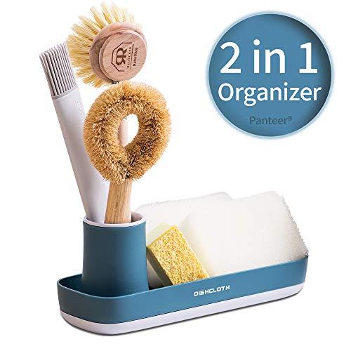 Panteer ® Küchenorganizer und Badezimmer Organizer - 2 in 1 Ordnungssystem - Aufbewahrung von Küchenutensilien oder als Ordnungshelfer im Bad - Spülbecken Organizer (blau)